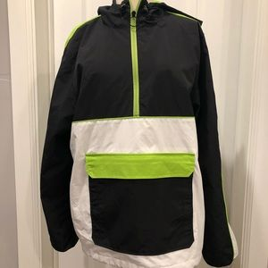 Windbreaker Jacket Neon Mens Medium